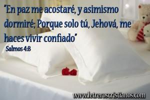 Imagenes cristianas para ir a dormir letreros cristianos for En paz me acostare