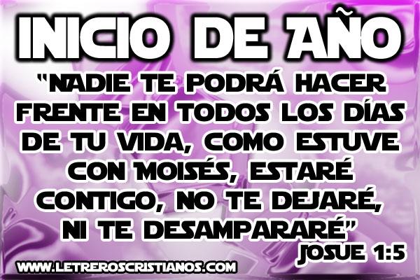 Josué 1:5 RV1960 « Letreros Cristianos.com