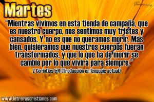 Martes 2 Corintios 5 4