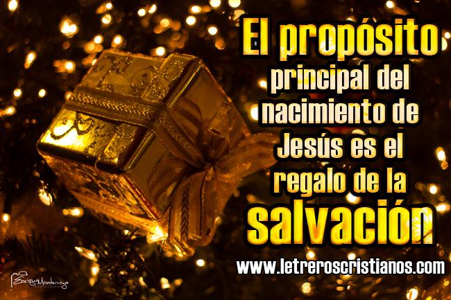 Nacimiento De Jesús Salvación Letreros Cristianoscom