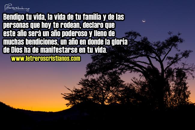 Bendigo Tu Vida « Letreros Cristianos.com